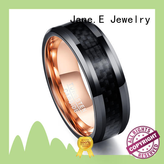 JaneE traditional tungsten wedding band exquisite for gift