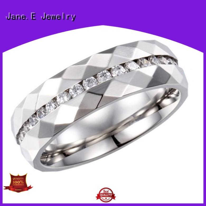 JaneE shiny stainless steel band multi colors for men