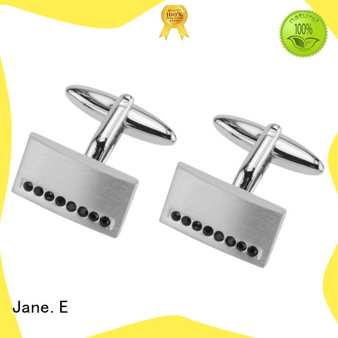 JaneE laser engraved cufflinks and studs for gifts