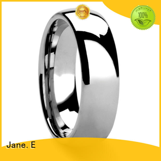 JaneE damascus texture his and hers black wedding bands exquisite for wedding