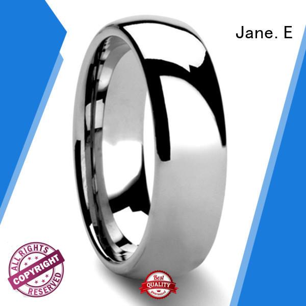JaneE multi colors 6mm tungsten ring matt for gift