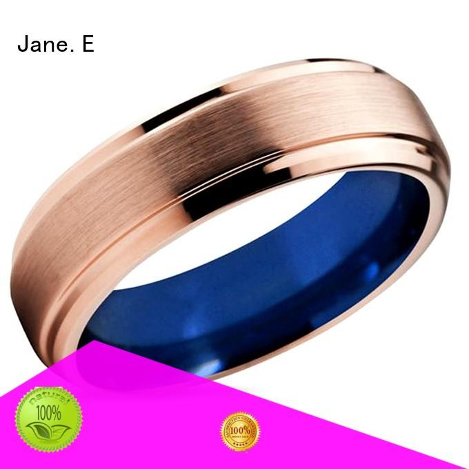 JaneE koa wood tungsten ring price exquisite for engagement