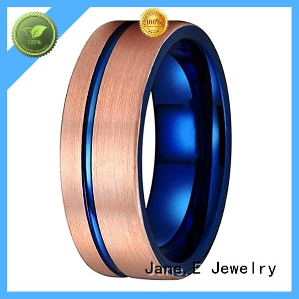 traditional tungsten gold wedding bands damascus texture engraved for wedding