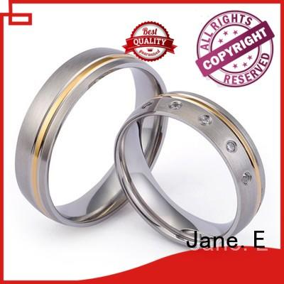 JaneE yellow gold titanium ring for men wholesale for anniversary