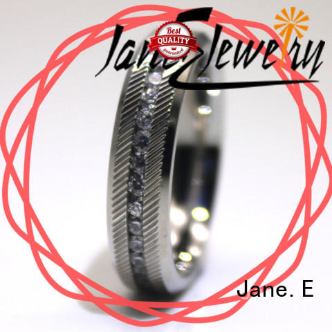 JaneE factory direct steel band ring fashion design for men