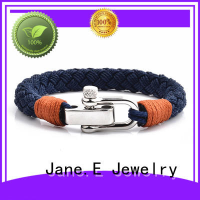 JaneE customized name logo rope bracelet womens exquisite for anniversary
