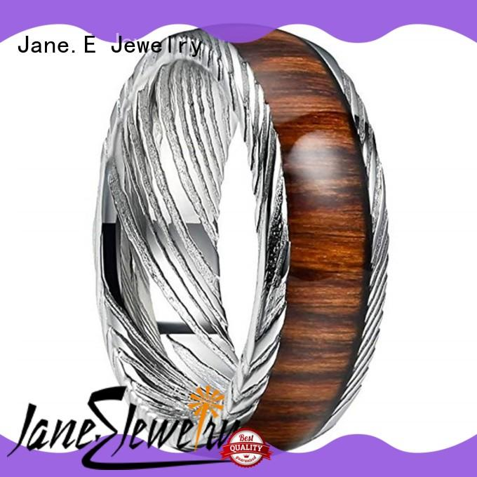 flexible damascus steel ring blanks wholesale for wedding JaneE