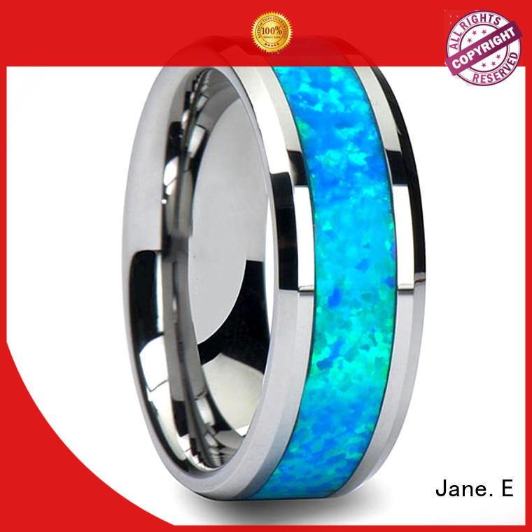 JaneE unique design tungsten band exquisite for wedding