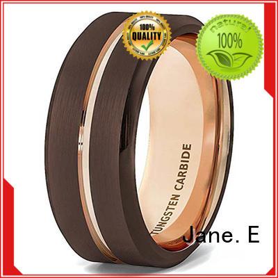 JaneE unique design blue tungsten ring exquisite for engagement