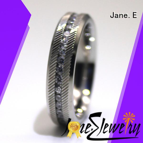 black mens stainless rings comfortable for men
