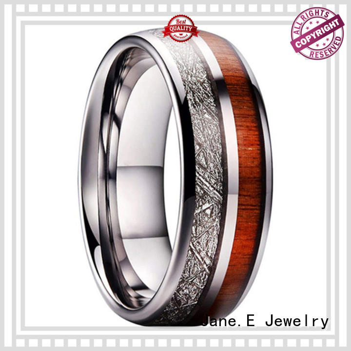 JaneE unique design tungsten rings for her matt for gift