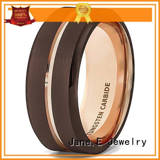 meteorite engraved tungsten rings engraved for engagement JaneE
