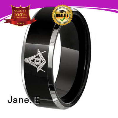 JaneE red opal mens blue tungsten wedding bands engraved for gift