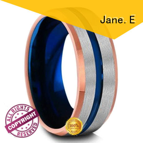 Custom Colors Tungsten Ring Carbide Silver Blue Rose Gold 8mm