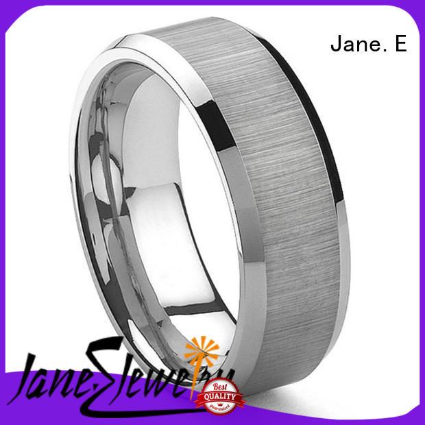 meteorite wood tungsten ring exquisite for wedding JaneE
