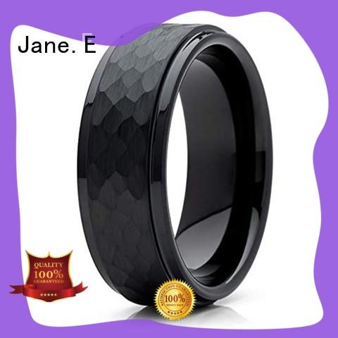 multi colors blue tungsten wedding bands damascus texture engraved for engagement