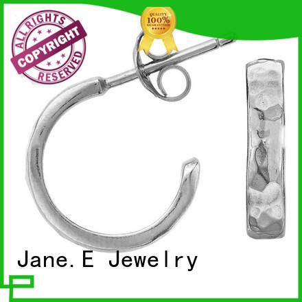 big stub bar surgical grade titanium earrings classic style for girl JaneE