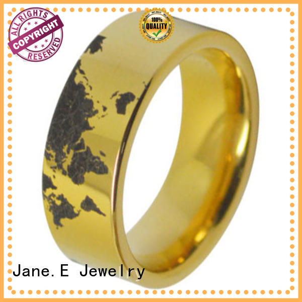 JaneE unique design tungsten ring blank red opal for engagement