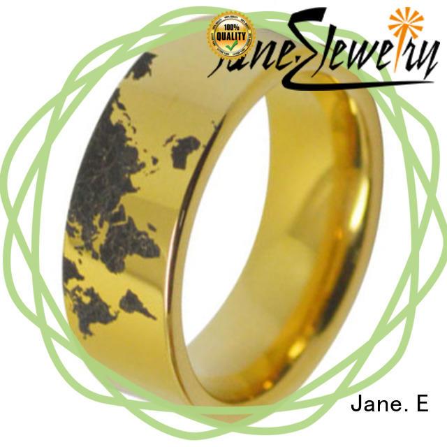 JaneE traditional tungsten carbide ring price matt for wedding