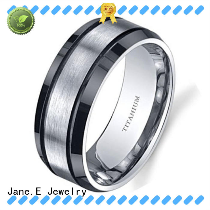 JaneE hypoallergenic titanium wedding bands factory direct for wedding