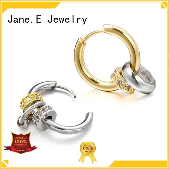 hypoallergenic stainless steel cuff earrings durable for women JaneE