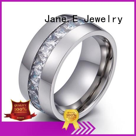 JaneE factory direct steel ring multi colors for men
