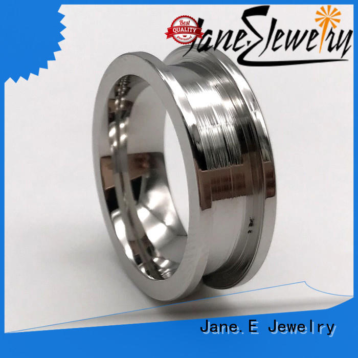 JaneE plating stainless steel wedding bands multi colors for decoration