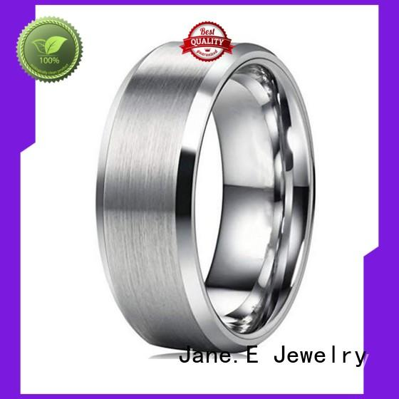 JaneE square edges steel band ring comfortable for decoration