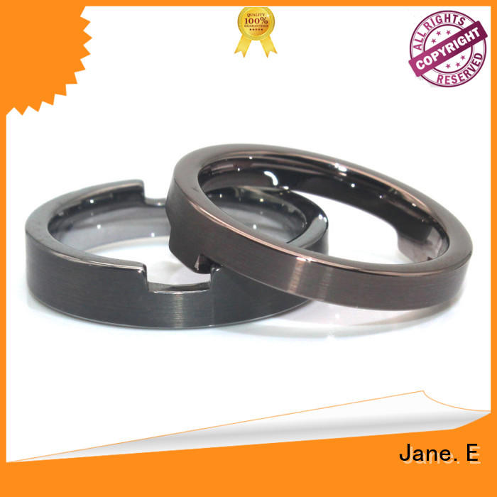 JaneE blue stainless steel ring core comfortable for weddings